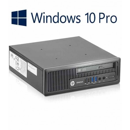 PC Refurbished HP EliteDesk 800 G1 USDT,  i5-4570s + Win 10 PRO
