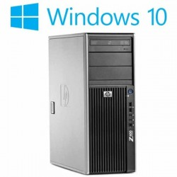 Workstation refurbished HP Z400, Intel Xeon Hexa Core E5649, Win 10 Home
