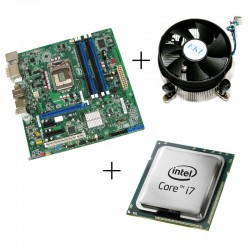 Kit placa de baza second hand Intel DQ67SW, Intel Quad Core i7-2600, Cooler