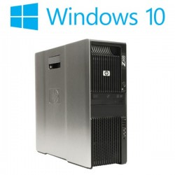 Workstation Refurbished HP Z600, 2 x Xeon Quad Core E5520, Win 10 Home