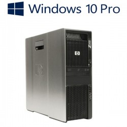 Workstation Refurbished HP Z600, 2 x Xeon Quad Core E5520, Win 10 Pro
