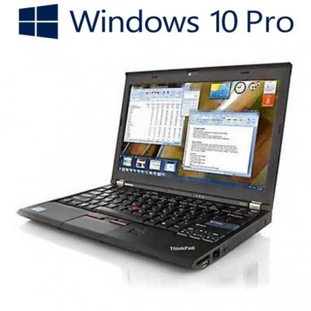 Laptop refurbished Lenovo ThinkPad X220, i5-2520M, 128GB SSD, Win 10 Pro