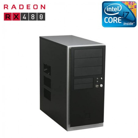 PC gaming second hand Antec Nsk 4480, i7-4770, 8gb, Radeon RX480 8gb 256bit