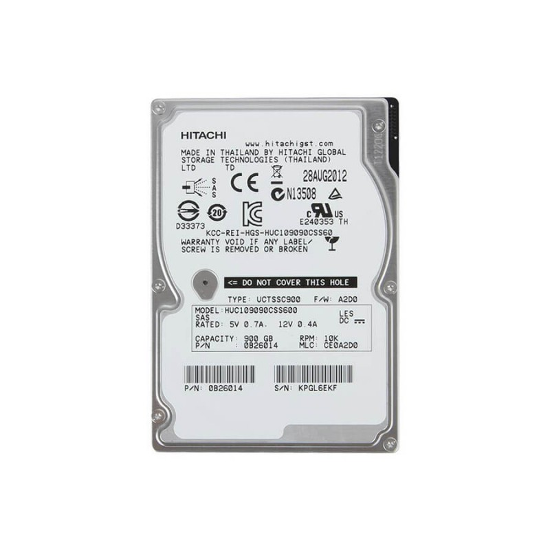 Hard Disk Server SH HGST Ultrastar HUC109090CSS600 900GB 10K RPM SAS 6Gb/s 2.5""