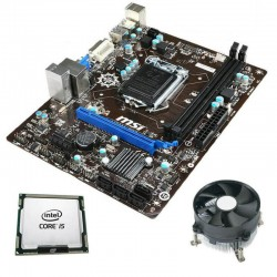 Kit Placa de Baza Refurbished MSI H81M-P33, Intel Quad Core i5-4570, Cooler