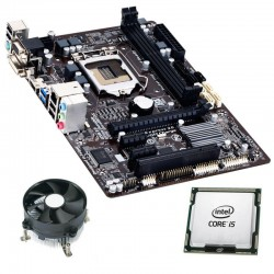 Kit Placa de Baza Refurbished GIGABYTE GA-B85M-HD3, Quad Core i5-4460, Cooler