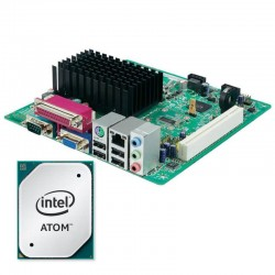 Kit Placa de Baza Refurbished Mini-ITX Intel D2500HN, Intel Atom D2500, Shield