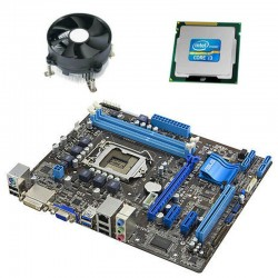 Kit Placa de Baza Refurbished Asus P8H61-M LE/USB3, Intel Core i3-2100, Cooler