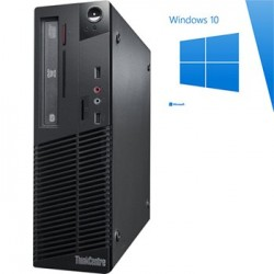 PC Refurbished Lenovo ThinkCentre M70e DT, E8500, Win 10 Home