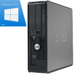 PC Refurbished Optiplex 760 SFF, Core 2 Duo E8400, Win 10 Pro