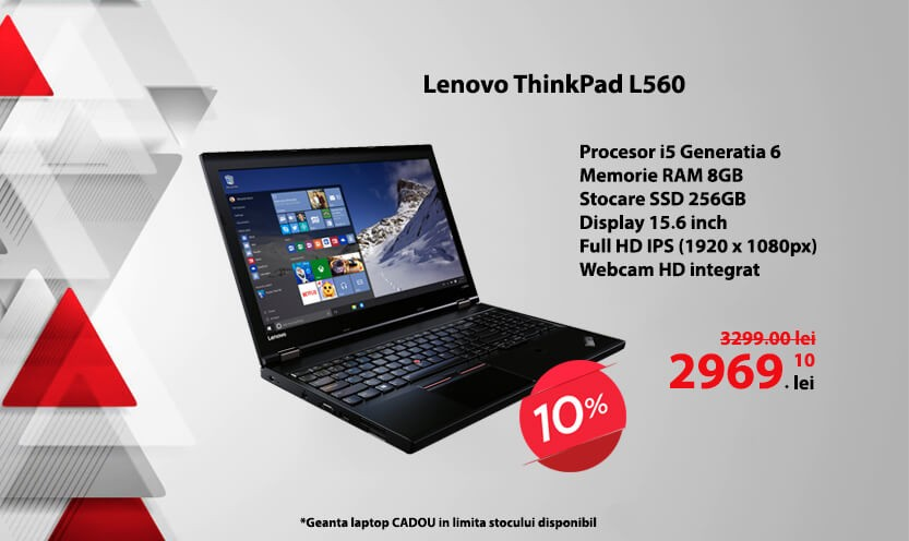 Laptop Lenovo ThinkPad L560, Webcam HD